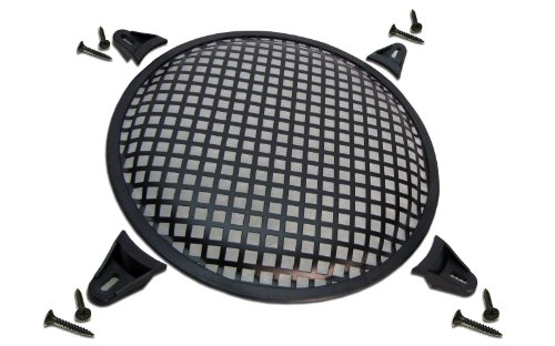 "R/T 6"" Steel Waffle Speaker Grill With Mounting Brackets And Screws"