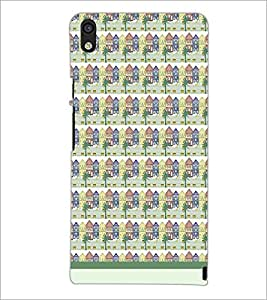 PrintDhaba House Pattern D-1480 Back Case Cover for HUAWEI ASCEND P6 (Multi-Coloured)