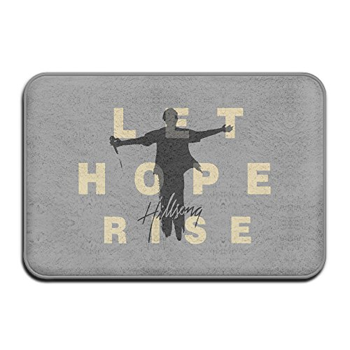 Hillsong Let Hope Rise Non-Slip Entrance Indoor/Outdoor/Front Door/Bathroom Mats 60x40x1CM (Mcfarland Movie Trailer compare prices)