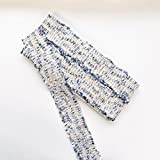 ツイードリボン 幅約45~50mm 5ヤード リボン 手芸 カルトナージュ 装飾 (ロイヤルブルー)