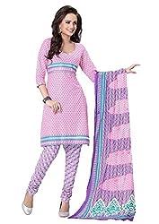HIFI Ethnicwear Women's Dress Material(HIFI SS2610_Pink_Free Size)