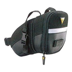 Topeak Aero Wedge Strap Mount Seat Pack - Black/Silver, Medium