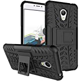 Chevron Meizu M3 Note Back Cover Case- Black[Shock Proof Military Grade Hybrid Infusion Technology] [Chevron Infused...