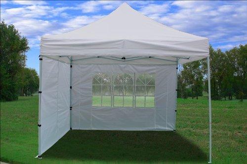 10x10 Pop Up 4 Wall Canopy Party Tent Gazebo EZ White