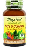 MegaFood Kid's B Complex Tablets, 30 Count (Premium Packaging)