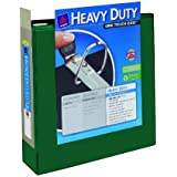 Avery Heavy-Duty View Binder with 3-Inch One Touch EZD Rings, Green, 1 Binder (79821)