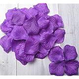 SAVFY® Lot 1000 Pétales de Rose en Soie Tissu Pétale Décoration Fête Mariage Table Baptême - Violet