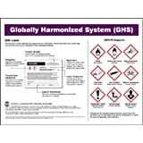 "Accuform Signs ZTP139 GHS Poster (English), ""GLOBALLY HARMONIZED SYSTEM (GHS)"", 18"" Length x 24"" Width, Laminated Flexible Plastic"