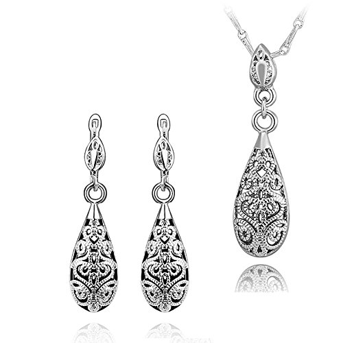 Smile_Jewelry Gold Filled African Costume Jewelry Set For Women Necklace Jewelry Pendant Earring And Necklace Set