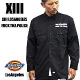 2316 Dickies × LA/ディッキーズ 長袖カスタムワークシャツ F.T.P ロングスリーブ ブラック (XL)