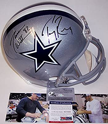 Jason Witten & Tony Romo Autographed Hand Signed Dallas Cowboys Full Size Helmet - PSA/DNA