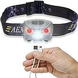 USB Wiederaufladbare LED Lenser Stirnlampe Kopflampe, Sehr...
