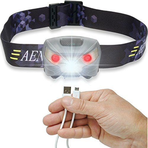 USB Rechargeable LED Headlamp Flashlight - Super Bright, Waterproof & Comfortable - Perfect Headlamps for Running, Walking, Camping, Reading, Hiking, Kids, DIY & More, USB Cable Included (Headlamps Kids compare prices)