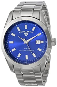 Swiss Legend Men's 21397-33 Classic Analog Display Swiss Quartz Silver Watch