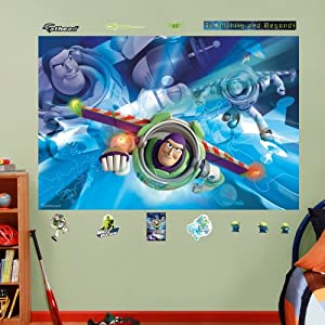 Fathead buzz lightyear mural graphic wall for Buzz lightyear wall mural