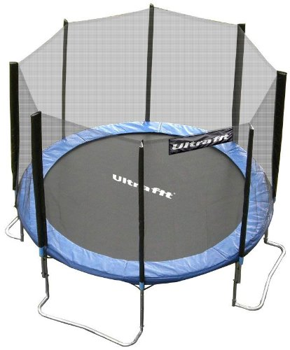 Ultrafit 12ft Jumper Garden Trampoline includes 4ft Safety Net