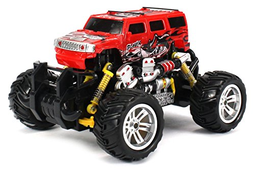 H2 Suv Electric Rc Graffiti Style Off-Road Monster Truck, 1:18 Scale, 4W, Rtr, Working Suspension, Rechargheable Batteries Included, Ready To Drift (Colors May Vary)
