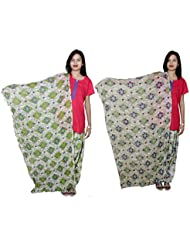 Indistar Women's Cotton Patiala Salwar With Dupatta Combo (Pack Of 2 Salwar With Dupatta) - B01HRK5SF2