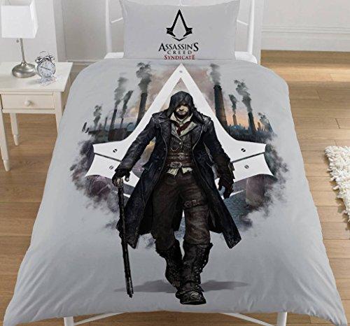 dreamtex Assassins Creed SYNDICATE Copripiumino singolo e federa reversibile