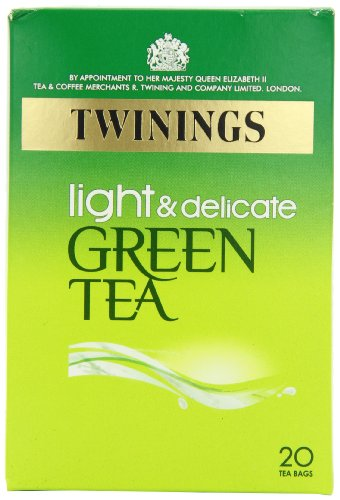 Twinings Pure Light and Delicate Green Tea 20 Teabags (Pack of 8, Total 160 Teabags)