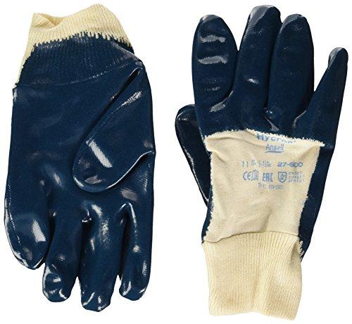 Ansell Hycron 27-600-Guanti in nitrile, resistenti alle alte temperature, Confezione di 12 paia), 11, Blu, 12