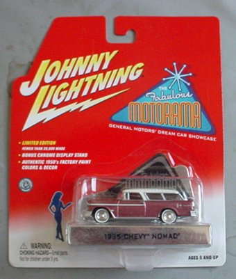 Johnny Lightning Fabulous Motorama GM Dream Car Showcase 1955 Chevy Nomad SALMON