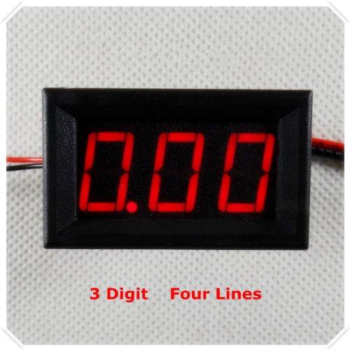 Smakn® Digital Ammeter Dc 0-50A Ampere Led Amp Panel Meter Dc 4-30V Power Supply(No Shunt) (Red)