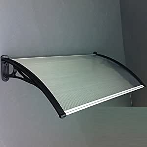 Polycarbonate Window Door Canopy Awning DIY kit, Pearl ...