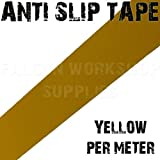50mm x 18 Meters, YELLOW HIGH GRIP ANTI SLIP TAPE ADHESIVE BACKED NON SLIP TAPE