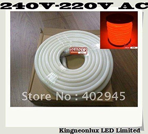 Led Neon Flex Orange Color 10M/Roll Led Soft Neon Light Led Flexible Neon Strip Led Neon Rope Lights 240V 220V 80Pcs/M