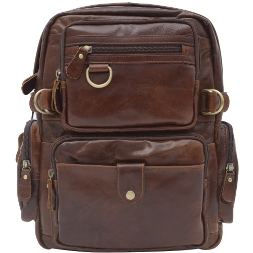 AB Earth Leather Backpack, M42 (Coffee)