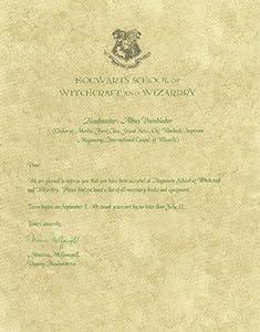 amazoncom harry potter hogwarts acceptance letter With hogwarts acceptance letter amazon