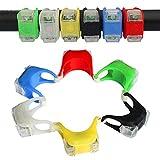 Heemepink 2 Stück wasserdichte LED Fahrradlicht Bright Eyes Silikon-Fahrrad-LED-Licht Berg