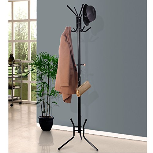 songmics coat rack stand entryway hat purse display hall. Black Bedroom Furniture Sets. Home Design Ideas