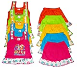 #10: Apt Padhus Baby Girls Cotton Dress (Pack of 5) (PF044_Multicolor_12-18 Months)