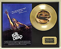 Evil Dead Limited Edition Gold 45 Record Display. Only 500 made. Limited quanities. FREE US SHIPPING