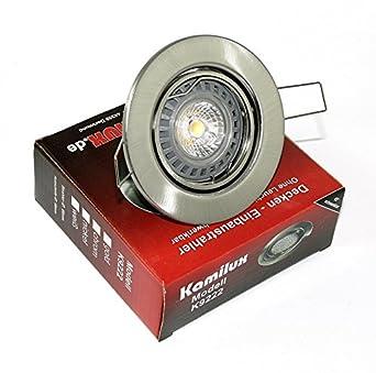 Sets 5W LED EINBAUSTRAHLER Bajo EINBAU STRAHLER DECKENLEUCHTE SPOT 230V GU10