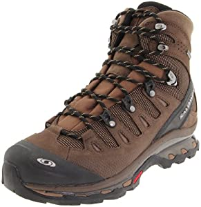 Salomon Men's Quest 4D GTX Backpacking Boot,Absolute Brown-X/Burro/Wood Beige,14 M US