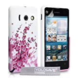 Yousave Accessories Floral Bee Silicone Gel Cover Case for Huawei Ascend Y300