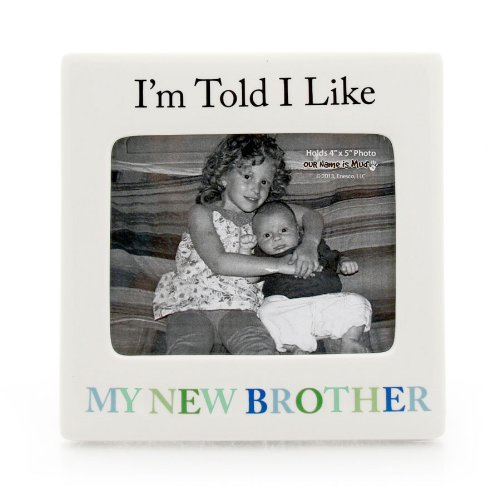 Enesco Our Name Is Mud By Lorrie Veasey New Brother Frame front-897406