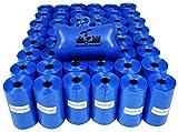 960 Pet Waste Bags, Dog Waste Bags, Bulk Poop Bags on a roll, Clean up poop bag refills - (Color: Blue) + FREE Bone Dispenser by Pet Supply City LLC