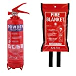 1kg Powder Fire Extinguisher & 1m x 1...