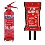 1kg Powder Fire Extinguisher & 1m x 1...