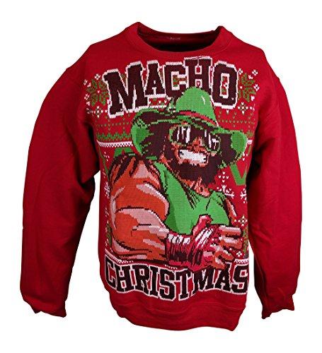 Macho Man Randy Savage WWE Ugly Christmas Mens Sweater Sweatshirt