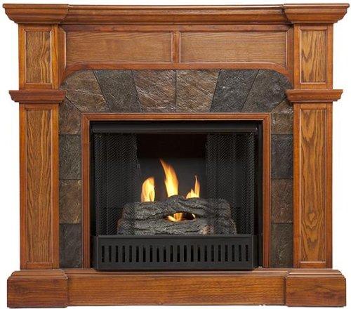 Mission Fireplace, Gel Fuel, Mission Oak