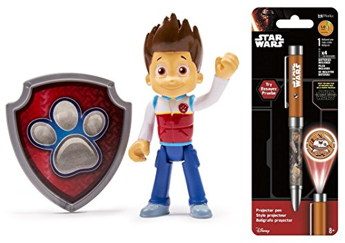 Super Hero Action Pack Pup & Badge Ryder Toy & Free Star Wars Projector Pen, Colors may vary Toys (Adventure Time Finn Adult Costume)
