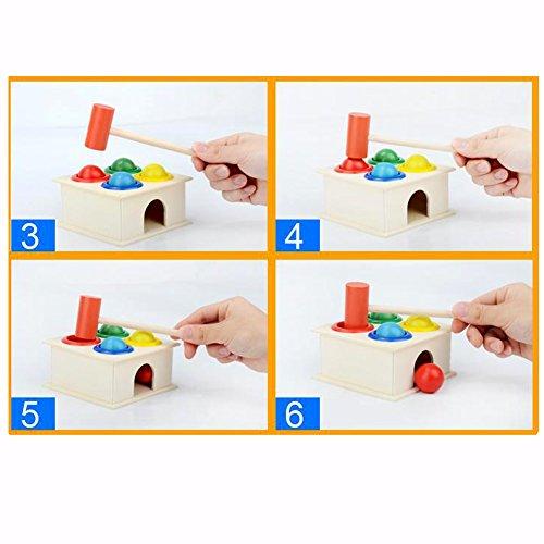 Vktech® Hammering Wooden Ball Hammer Box Children Early Learning Educational Toys