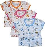 Bubbles Half Sleeves Vest Multi Colour-Tshirt - Set Of 3 (3-6 months) (Children: M)