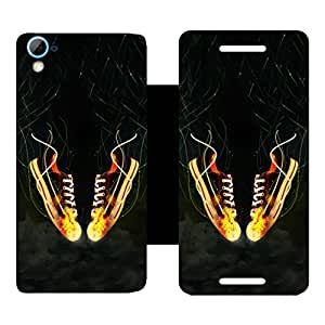 Phone Candy Designer Flip Cover with hi-res printed Vinyl sticker wrap-around for HTC Desire 826