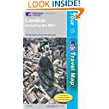 London Including the M25 (Tour Map) (OS Travel Map - Tour Map)